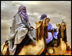 The Blue Men of Sahara ! (Bashar Shglila) Tags: world africa sky people sahara proud photography gallery photos top best most camel worlds knight tribe popular libya outfits camello tuareg nomadic  libyen   lbia   topseven libi   libiya impressedbeauty liviya libija      lbija  lby libja lbya liiba livi   mygearandme