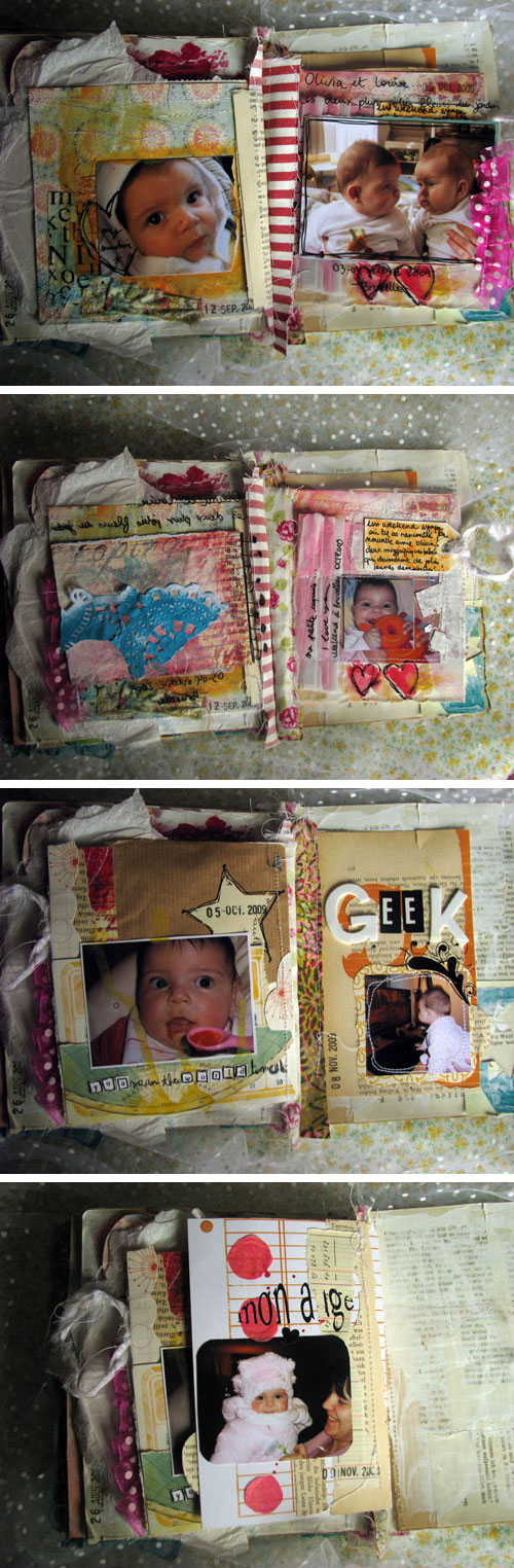 Louise 0-6 months art journal {pages 17-23}