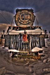 I'm coming back now (Sous l'Oeil de Sylvie) Tags: morning winter snow cold museum train wagon hiver muse qubec locomotive neige froid hdr tack matin beauce sigma1020mm chemindefer photomatix voieferre suraliste museferroviaire hdrenfrancais hdraddicted vallejonction pentaxk7 trackdechemindefer