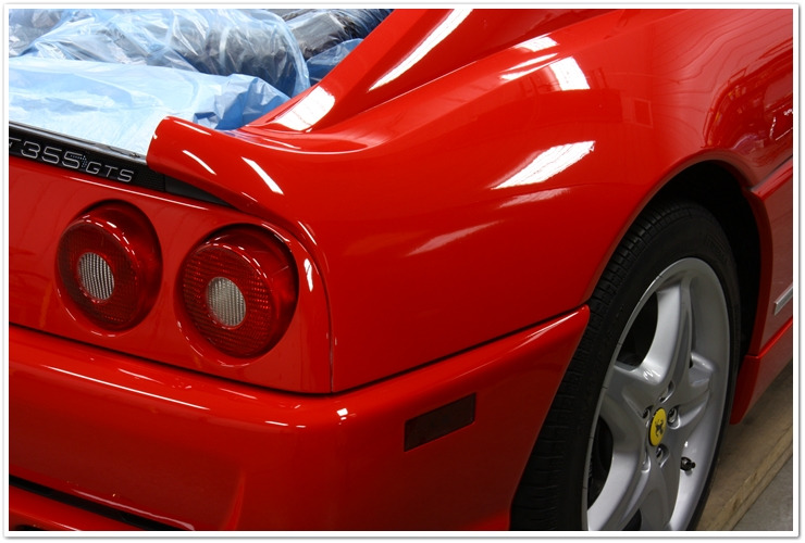 Ferrari 355 GTS after polishing