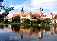 La ville de TELC (République tchèque) (jmsatto) Tags: baroque ville républiquetchèque étang flickraward