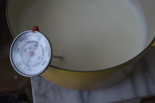 Milk cooling for making yogurt