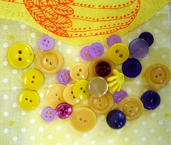 Lemon Lavender Buttons (Amy Honey) Tags: yellow lemon buttons sewing etsy assorted levender divinedebrisvintage purpe