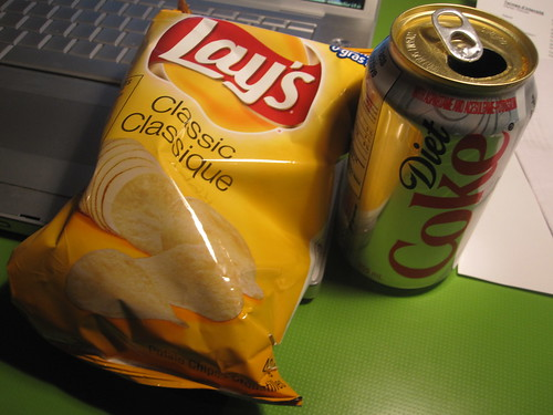 Chips adn Diet Coke 0 $1.25
