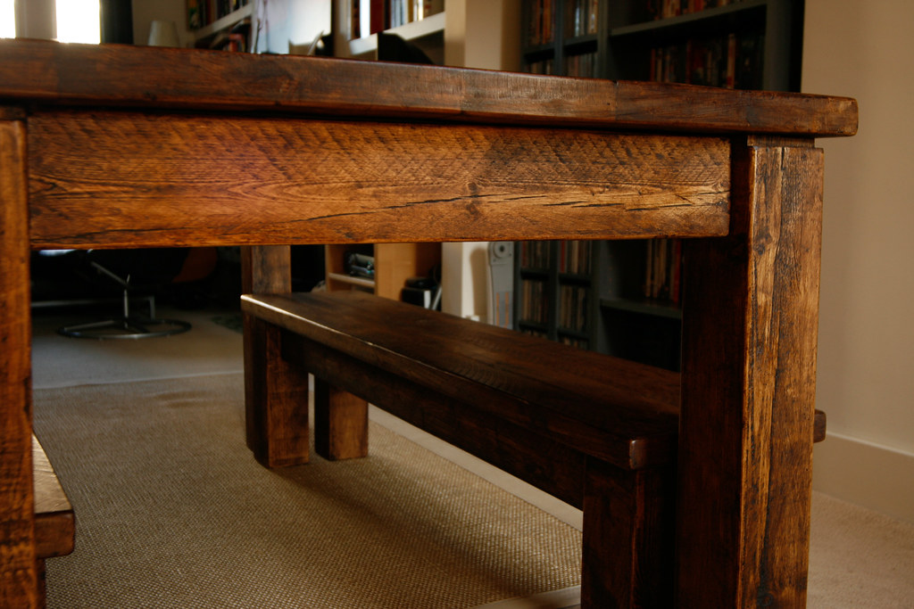 End view :: New farmhouse table #07