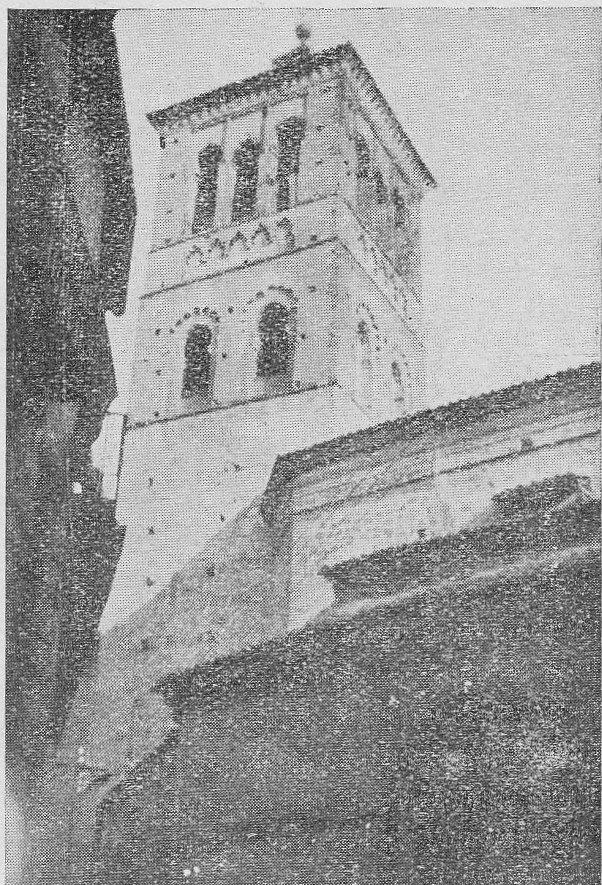 Iglesia de San Román antes de la restauración de 1940