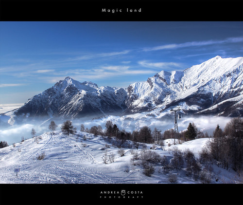 "Magic land - Piani di Bobbio <strong>If you like it, please: <a href=""http://twitter.com/share"" rel=""nofollow"">Tweet</a></strong> My reference Blog: <a href=""http://www.andreacosta.name"" target=""_blank"" rel=""nofollow"">Andrea Costa</a>  Facebook:<a href=""http://www.facebook.com/pages/Andrea-Costa-Photography/129702643721004"" target=""_blank"" rel=""nofollow"">Andrea Costa</a>  <strong>  Info photo: Argegno Como Series - Argegno Como Lake </strong> Postprocessing RAW: <strong>-- shot with exposure +2 Saturation, virance lights and clarity not HDR ---</strong>  ARGEGNO Argegno è una tra le località più frequentate del Lago di Como sia come luogo di soggiorno che di transito. Da qui, infatti una strada percorre la Valle dIntelvi, che congiunge il lago di Como a quello di Lugano.  Argegno dista 20 km. da Como, da cui può essere raggiunto percorrendo la statale Regina, che prende il nome dallantica via Regia romana che portava a Chiavenna e a Coira, e di cui segue il tracciato. La valle è gremita di paesi e comprende sia località turisticamente note come Castiglione, S.Fedele, Lanzo, che borghi tranquilli e riposanti. Punti di eccezionale bellezza sono i Belvedere di Pigra, verso il Lago di Como, e di Lanzo, verso il lago di Lugano.  Molto pittoresco è lantico borgo del paese che, attraversato dal torrente Telo, è diviso in due parti collegate da un vecchio ponte in pietra a sesto acuto.  Lorigine romana del paese è attestata da alcuni ritrovamenti di lapidi, le cui iscrizioni fanno riferimento al console Publio Cesio Archigene. Argegno è stato fin dallantichità un centro fortificato, la sua posizione strategica giocò un ruolo fondamentale nell ambito della guerra fra i Rusca e i Vittani, nel 1335 si consegnò insieme a tutti i comuni di Como ai signori di Milano e divenne proprietà dei Visconti.  Da Argegno si può salire in funivia fino a Pigra 881 m. situata su di un altopiano da cui si gode un bellissimo panorama del lago di Como.  Da vedere il Santuario di S. Anna, edificio settecentesco, che conserva allinterno stucchi e affreschi del settecento.  Ogni paese della valle ci regala qualcosa dal punto di vista dellabilità artigiana che molto spesso si innalza a vera e propria opera darte.  Tra le più famose famiglie di artisti vanno ricordati i Carloni di Scaria, i Solari di Verna, i Quaglio e i Barberini di Laino, Bregno di Osteno.  --- ARGEGNO Argegno is one of Lario's most frequented places, as a place to stay as well as to stop in to visit. Actually from here a road travels the Valle dIntelvi (Intelvi Valley), which connects Lake Como with that of Lugano.  Argegno is 20 km. from Como, from which can be reached by travelling the statale (state road) Regina, which takes its name from the ancient Roman via Regia that lead to Chiavenna and to Coira, and follows its route. The valley is full of towns and includes noted tourist localities such as Castiglione, S.Fedele, and Lanzo, as well as calm and relaxing villages. Points of exceptional beauty are Belvedere (Terrace with a view) di Pigra, towards Lake Como, and Belvedere di Lanzo, towards Lugano's lake. Very picturesque is the ancient village of the town which, having crossed the Telo torrent, is divided into two parts connected by an old, pointed-arch stone bridge. The town's Roman origin is testified to by a few discoveries of gravestones, the inscriptions of which refer to the consul Publio Cesio Archigene. Argegno has since ancient times been a fortified centre, its strategic position played a fundamental role in the course of the war between the Rusca and the Vittani, in 1335 it surrendered together with all the towns of Como to the Lordship of Milan and became property of the Visconti.  From Argegno you can climb in the cableway to Pigra (881 mt) located on a plateau from which a beautiful panorama of Lake Como can be enjoyed. The Santuario di S. Anna (St. Anna Sanctuary), an 18th century building, which conserves in its interior stuccoes and frescos of the 1700s, is a must-see.  Every town of the valley offers us with something from the artisan ability point of view, which often is elevated to a downright work of art. Among its most famous artist families should be mentioned the Carloni of Scaria, the Solari of Verna, the Quaglio and Barberini of Laino, and Bregno of Osteno.    Andrea Costa Photography - Please dont use this image on websites, blogs or other media without my explicit permission. © All rights reserved TWITTER: <a href=""http://twitter.com/AC_TheArt"" rel=""nofollow"">twitter.com/AC_TheArt</a>"