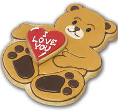 I Love Your Bear Cookie (clevercookie) Tags: food cookies hearts gifts valentinesday