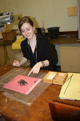 Heather and the beetle (edwbaker) Tags: beetle xray nhm radiography bmnh goliathus goliathusgoliathus heatherbonney taxonomy:binomial=goliathusgoliathus