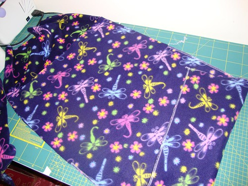 Sew the top to the back right sides together