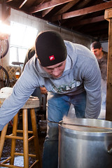 Brian checking the boil
