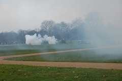 Queen's accession Royal Salute (katiebutton) Tags: smoke hydepark gunfire royalsalute