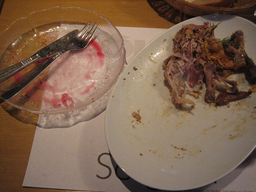 Poulet + Salat at Alpenblick