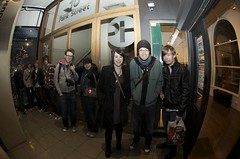 The first in the queue (JamFactory) Tags: uk party night bristol toy gallery vinyl exhibition fisheye plastic droplet launch showcase s2 series2 jamfactory fiftyfifty crazylabel