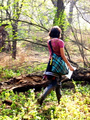 who are you... (Akshi Chawla) Tags: india forest leaving go away stranger human return unknown faceless bye left chandigarh