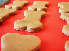 brown sugar cookies (cook's illustrated) in dog biscuit shapes - 24