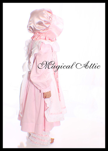 Custom Boutique Little Bo Peep Costume Dress Set in Pink