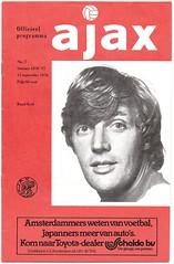 AJAX v Manchester United [1976-77] UEFA Cup 1 (bullfield) Tags: ajaxamsterdam ajax amsterdam manchesterunited ruudkrol netherlands holland dutch programma