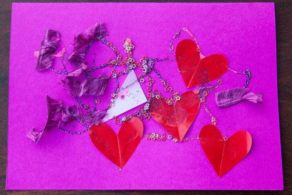 Valentine's Day Card Made At Kindy