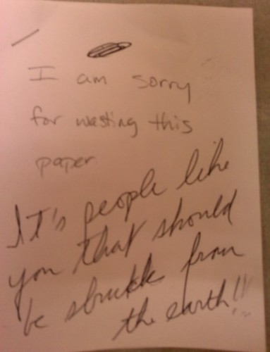 I am sorry for wasting this paper. It's people like you that should be struck from the earth!!!