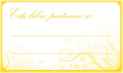 etiquetas para personalizar libros y libretas con el nombre