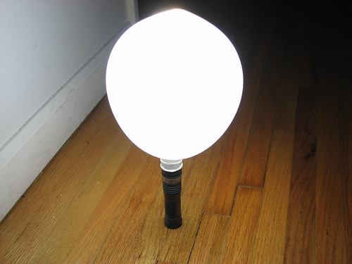 Adjust The Air In The Balloon To Control The Light Diffusion. Iu0027d Imagine  If You Used A Long And Skinny One, Itu0027ll Be Very Close In Profile To The  Conical ... Home Design Ideas