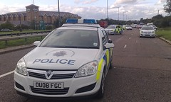 HERTS POLICE RTC A1 LONDON (NW54 LONDON) Tags: police 999 rtc policecars vauxhallastra emergencyvehicle vauxhallvectra hertfordshirepolice