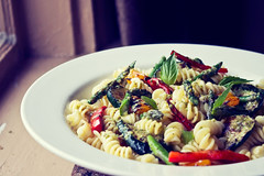 """""""ask not what you can do for your country.  ask what's for lunch."""" (cait bermuhler) Tags: light food primavera window vegetables availablelight naturallight pasta verdure"""