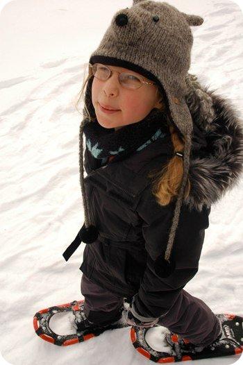 Sarah on snowshoes