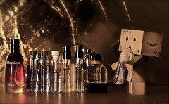 Perfume ( delta_mizan ) Tags: reflection canon toy amazon flickr perfume bottles bokeh glaze 365 cans 1785mm perfumes dior danbo pixer 450d flickraward bokehs