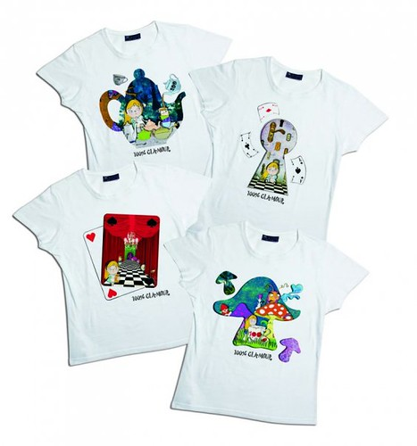 alice in wonderland t-shirts for Glamour