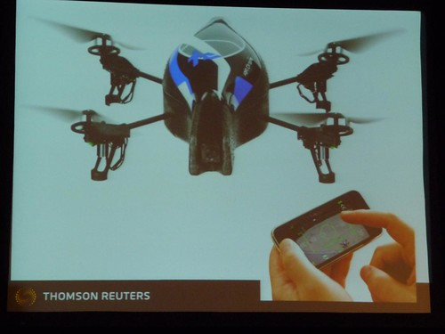 Augmented Reality - remote controlled mini news copters