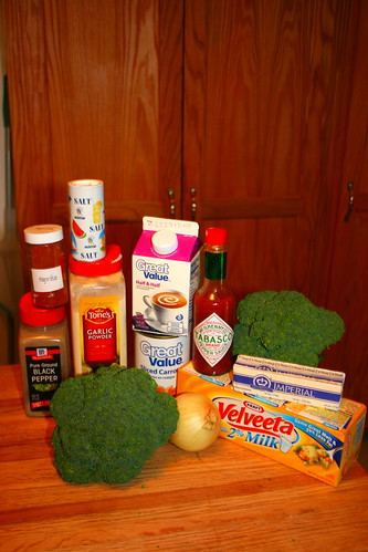 Broccoli soup ingredients