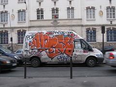 Horfe Graffiti Van (tofz4u) Tags: school streetart paris graffiti belleville tag camion van cole artderue 75020 camionette horfe horphe