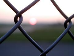 (-polarsnoo-) Tags: sunset berlin fence germany neuklln tempelhof olympusc4040z