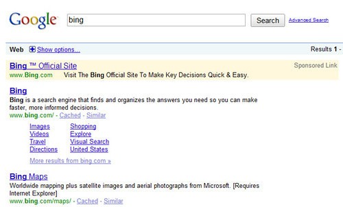 Bing Ads On Google