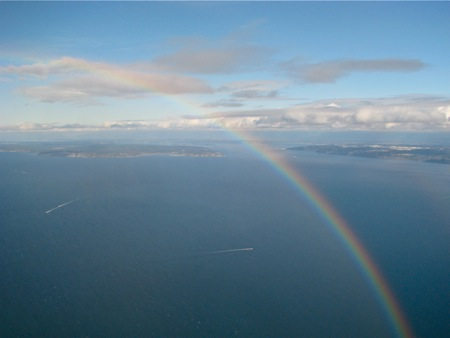 Rainbow over South Whidbey
