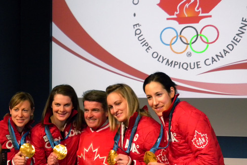 Members of the Canadian Womens Hockey Team