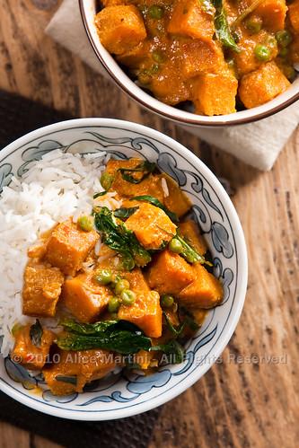 Curry di zucca e cocco