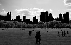 Central Park (Renzsz) Tags: park city nyc people ny newyork buildings walking sitting centralpark towers sheepmeadow renzsz
