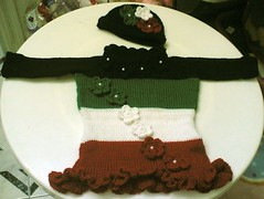 Kuwait Flag Girl Set (Badia Ali) Tags: dress kuwait kuwaitflag knitteddress girldress kuwaitnationalday