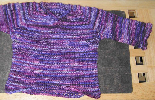 purple baby sweater