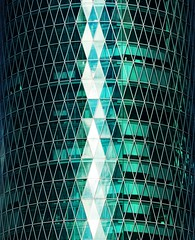 Westhafen Tower, Frankfurt (hogsvilleBrit) Tags: reflection green frankfurt symmetry symmetrical westhafen westhafentower cmwdgreen