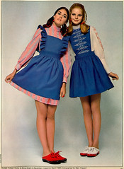 Colleen Corby & Mona Grant 1969 (AngoraSox) Tags: girls friends color 1969 fashion easter fun happy march spring fashionphotography retro nostalgia clogs denim timetravel 1960s pigtails aliceinwonderland fashions miniskirts vintagefashion seventeenmagazine vintageseventeenmagazine pinefore sixtiesfashions colleencorby 1960steens 1960sfashions marchispard 1960steenfashions monagrant sixtiesteens sixtiesteenfashions