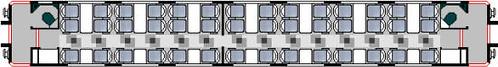 Carriage of charter train (UK) - First class, plan