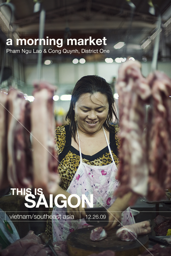 Saigon Market Morning Market