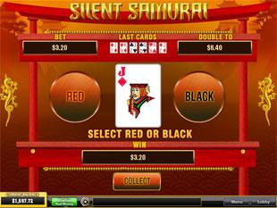 free Silent Samurai gamble bonus game