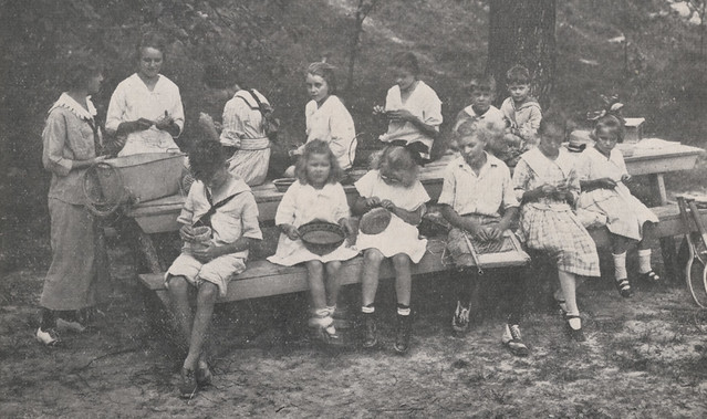 Children's Basket-Making Class, 1918
