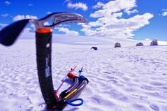 Kite dream (Fahd Munir) Tags: sky white snow kite ice clouds desert antarctica tent axe footsteps