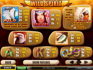 free Wild Spirit slot mini symbol
